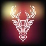 Deer head. Ethnic background. Stock Photography