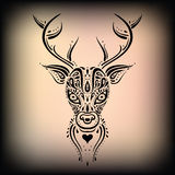 Deer head. Ethnic pattern. Royalty Free Stock Images