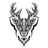 Deer head. Ethnic pattern. Stock Photos