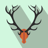 Deer head flat icon Royalty Free Stock Images