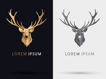 Deer head gold symbol. Illustration graphic vector Stock Image