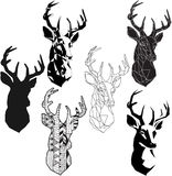 Deer head royalty free illustration