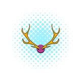 Deer head icon, comics style Stock Photo