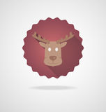 Deer Head Icon on white Background Stock Images