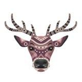 Deer Head Logo. Vector decorative Emblem. Royalty Free Stock Photography