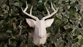 Deer head made of paper stock images