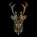 Deer head. Polynesian tattoo style Royalty Free Stock Photo