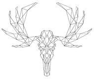 Deer head scull triangular icon Stock Photos