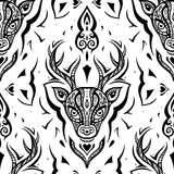 Deer head. Seamless pattern. Royalty Free Stock Images