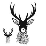 Deer Head Silhouette Stock Photos