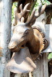 deer head steel Stock Image