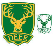Deer head symbol Stock Photo