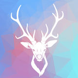 Deer head on triangle background Stock Images