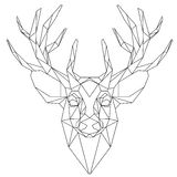 Deer head triangular icon Royalty Free Stock Image