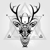 Deer head. Tribal pattern Royalty Free Stock Photo