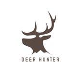 Deer head vector design template,hunting Stock Image
