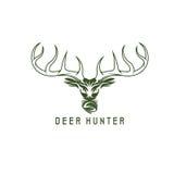 Deer head vector design template,hunting Royalty Free Stock Image