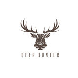Deer head vector design template,hunting Royalty Free Stock Images