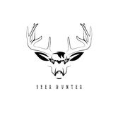 Deer head vector design template,hunting Royalty Free Stock Photography