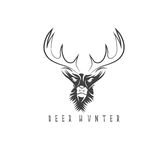 Deer head vector design template,hunting Stock Photography