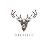 Deer head vector design template,hunting Stock Photos