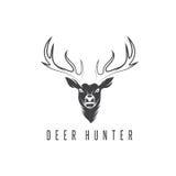 Deer head vector design template,hunting Royalty Free Stock Photos