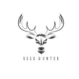 Deer head vector design template,hunting Stock Images