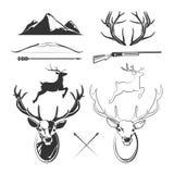Deer head vector elements constructor for vintage hunting and hipster labels vector illustration