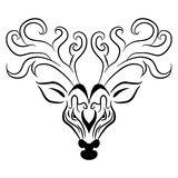Deer Head Zentangle Style Royalty Free Stock Photography