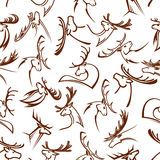 Deer heads seamless pattern background Stock Image