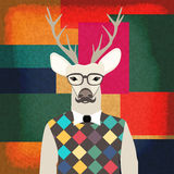 Deer hipster Royalty Free Stock Image