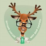 Deer hipster. Vector illustration. Deer hipster Vector art vector illustration. EPS 10 Royalty Free Stock Images