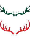 Deer horns. Are designed for christmas designs Royalty Free Stock Images