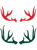 Deer horns stock photo