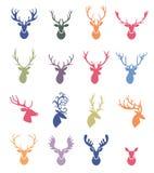 Deer horns label set. Reindeer Antlers Illustration in Vector. Deer horns label set stock illustration