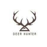 Deer horns vector design template,hunting Stock Photos