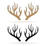 Deer horns on white background. Illustration of deer horns on white background Stock Photos