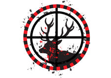 Deer hunt. Illustration in white background vector illustration