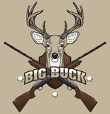 Deer Hunting Illustration Royalty Free Stock Images