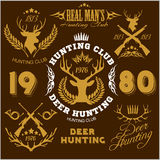 Deer hunting. Set of badges labels logo design Royalty Free Stock Image