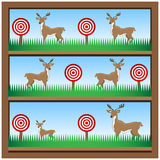Deer Hunting Shooting Gallery Royalty Free Stock Photography
