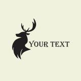 Deer Hunting Silhouette Template Vector Design Logo Stock Image