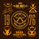 Deer Hunting - vector set for hunting emblem Royalty Free Stock Image