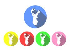 Deer icons Stock Images