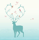 Deer illustration Stock Image