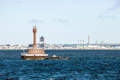 Deer Island Lighthouse. The Deer Island Lighthouse in Boston's inner harbor Stock Images
