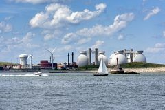 Deer Island Waste Water Treatment Plant Royalty Free Stock Images