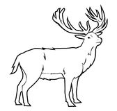 Deer. Laurel illustrator desain .eps 10 Stock Illustration