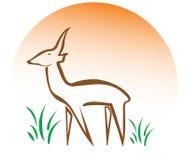 Deer logo Stock Photo