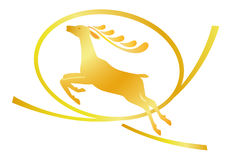 Deer logo Royalty Free Stock Photo